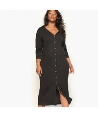 dec54810b384 CASTALUNA Πλεκτό φόρεμα με κουμπιά