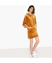 LA REDOUTE COLLECTIONS Ριχτό φόρεμα με κουκούλα από βελούδο 57cb29dbd01
