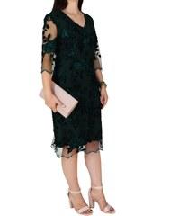 Φόρεμα Μίντι Με Δαντέλα Vagias 8610-17 Πράσινο vagias 8610-17 prasino 5da06d5f789