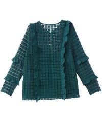 219d1dfcd56a CASTALUNA Μακρυμάνικη μπλούζα με βολάν