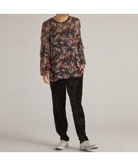 48bb9e4a0b15 DERHY Μακρυμάνικη φλοράλ μπλούζα με στρογγυλή λαιμόκοψη