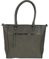 7d45d493592 Huxley & Grace Γυναικεία γκρι κλασσική τσάντα ώμου διάτρητο σχέδιο 5258L