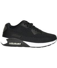 2c748e801d9 Huxley & Grace Ανδρικά μαύρα αθλητικά παπούτσια με λευκό αερόσολα 2817H