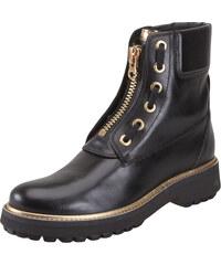 b2d4d5fece Γυναικεία Δερμάτινα Bike Boots Geox D84ACA 00043 C9999 Asheely plus smoke  leather Black ankle boots