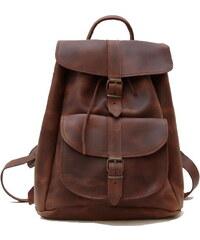 Δερμάτινη τσάντα πλάτης με 1 τσέπη (ΧΡΩΜΑ ΚΑΦΕ ΚΕΡΙΟΥ) af2438e6b85