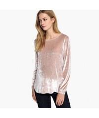 561b7fe41529 LA REDOUTE COLLECTIONS Βελούδινη μακρυμάνικη μπλούζα εγκυμοσύνης