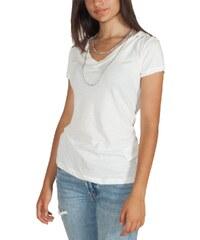 68a383fe839b Replay T-shirt λευκό με V-λαιμόκοψη και αλυσίδα