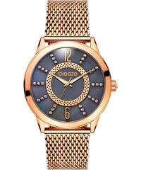 Ρολόι BREEZE Essensia με ροζ χρυσό μπρασελέ και ζιργκόν 210931.9 a9999138da3