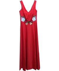 Angelo Maxi αμάνικο φόρεμα με διαφάνεια στην πλάτη 799523a5026