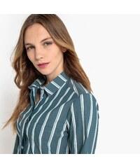 0aba4eb23cb2 LA REDOUTE COLLECTIONS Μακρυμάνικο ριγέ πουκάμισο σε ίσια γραμμή
