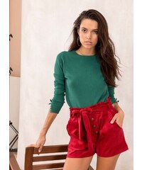 The Fashion Project Basic πλεκτό με πέρλες στα μανίκια - Πράσινο - 010 5f5560cc5eb