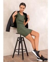 The Fashion Project Ριπ εφαρμοστό φόρεμα - Χακί - 05531022001 ace0654b722