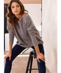 The Fashion Project Oversized πλεκτή μπλούζα με τσεπάκια - Γκρι -  05473027013 e1298873435