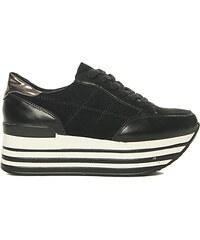 Luigi Sneakers σε Συνδυασμό Υλικών - Μαύρο - 003 - Glami.gr 0c1412be70f