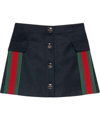 672a52c275 Gucci Kids Kids skirt in wool and cashmere with web - Black