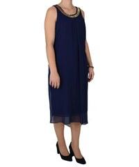 67fbb0b3717f xinosfashion Φόρεμα Μίντι Αμάνικο 12158 Μπλε 12158 mple