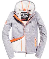 5441f010b1 outletshop Superdry Hooded Sherpa SD Light Grey γυναικείο μπουφάν με  πορτοκάλι λεπτομέρειες και εσωτερική επένδυση