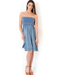 Φόρεμα παραλίας strapless Iconique IC8-036 - jeans ανοιχτό Woman 6c8b9b458e6
