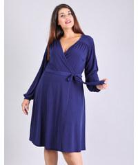 a11d706c0644 Λεπτομέρειες · e-xclusive Κρουαζέ κλος φόρεμα με ζωνάκι