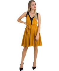 No Stress Γυναικείο ώχρα αμάνικο φόρεμα κλος τούλι 8317229G c83a4f7ebd4