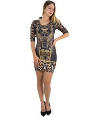 No Stress Γυναικείο καφέ λεοπάρ εφαρμοστό κοντό φόρεμα 8290145F fae41f4e0a7