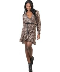 cfa7e93c51de DeCoro F3481 Φόρεμα κρουαζέ Animal Print - ΛΕΟΠΑΡ - 10