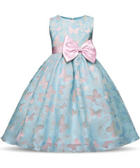 df9131e06a1 Παιδικό Φορεματάκι Πεταλουδίτσες Μπλε - Meng Baby