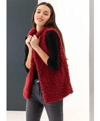 The Fashion Project Γούνινο γιλέκο με fleece επένδυση - Μπορντό - 001 be3143cb58e