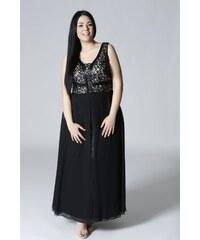 08402d75294a Happysizes Maxi φόρεμα μαύρο μπεζ
