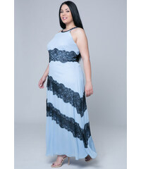 9c5804f57117 Happysizes Maxi μαύρο/πράσινο φόρεμα με δαντέλα - Glami.gr