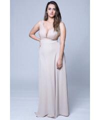 1c330594fd32 Happysizes Φόρεμα maxi με sparkly μπούστο σε χρώμα μπεζ