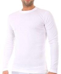 Apple Ανδρική Φανέλα - Μακρύ Μανίκι - Εφαρμοστό Λευκό e60b376698d