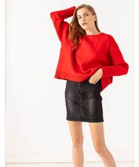 5fa6ed9c21ec Issue Fashion Πουλόβερ από μαλακό πλεκτό σε άνετη γραμμή