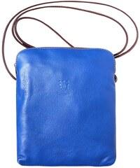 f1799bc98f Δερματινο Τσαντακι Ωμου Mia Gm Firenze Leather 8610 Μπλε Καφε