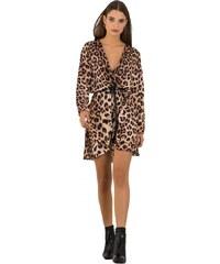DeCoro F3482 Φόρεμα Κρουαζέ Animal Print - ΛΕΟΠΑΡ - 10 6f7f2492925