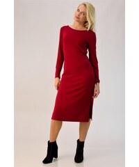 First Woman Midi φόρεμα με σκισίματα στο πλάι 0ea0aa57fdc