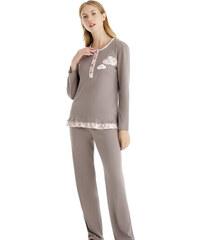 Πυτζάμα Γιώτα Homewear - Γεμάτο Βαμβάκι - Ανάγλυφο Σχέδιο - Χειμώνας 2018 19 af352512c48