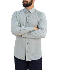 Ανδρικό μπεζ πουκάμισο με μπλε γεωμετρικά σχέδια Ben Tailor 0084 8d8c910da7e