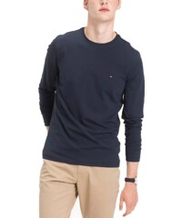 14c632960699 T-shirt Strech Slim Fit Lon Tommy Hilfiger MW0MW08353 - μπλέ σκούρο