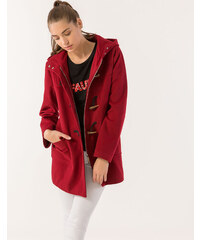 8d5fcc2d65e1 Issue Fashion Παλτό σε στυλ μοντγκόμερι με κουκούλα και φερμουάρ