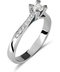Haritidis Μονόπετρο δαχτυλίδι από λευκό χρυσό 18 καρατίων με ένα κεντρικό  διαμάντι 0.31ct και μικρότερα b93f7cf1ce2