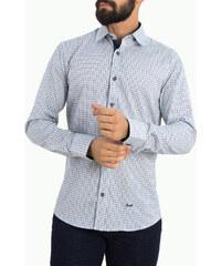 Ανδρικό πουκάμισο με μάο γιακά Ben Tailor μαύρο 25799 - Glami.gr 62986a122c1