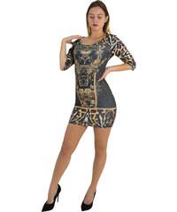 d1b6cbfba07a No Stress Γυναικείο μαύρο λεοπάρ εφαρμοστό κοντό φόρεμα 8290145