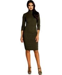 Dursi 60042 DR Ελαστικό βισκόζ μίντι φόρεμα με ανοιχτή πλάτη - Χακί 3c46eb61da7