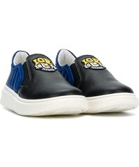 f71849a3476 Iceberg Kids TEEN logo patch slip-on sneakers - Black