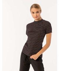 a82b6d5eb64e Issue Fashion Ριγέ μπλουζάκι με κοντό μανίκι και στρογγυλή κλειστή λαιμόκοψη