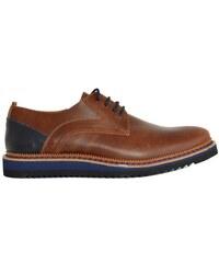 Ανδρικά δερμάτινα παπούτσια Nice Step κάμελ δετά 751W 596e8e05692