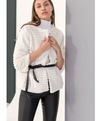 The Fashion Project Γούνινο πανωφόρι με δετό ζωνάκι - Ζαχαρί - 05912062005 73efdfe20bb