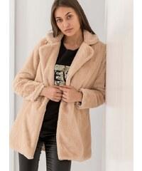 The Fashion Project Παλτό από οικολογική γούνα - Μπεζ - 05877003001 851f2661212