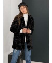The Fashion Project Παλτό από οικολογική γούνα - Μαύρο - 001 c64a622a3ef